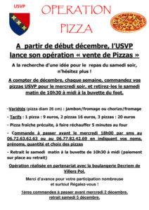 Le samedi, c'est Pizza à emporter avec l'USVP