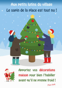 Le Sapin de la place attend ses décorations !